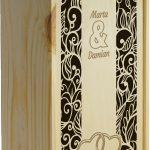 11,12 skrzynka na 2 wina surowa zasuwana, podwójna - wystawa, szablon, wzór (ślub)